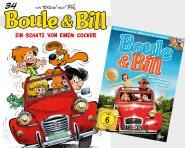 Boule & Bill 34: Ein Schatz von einem Cocker + DVD Boule & Bill – Zwei Freunde Schnief und Schnuff